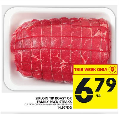 Sirloin Tip Roast Or Family Pack Steaks