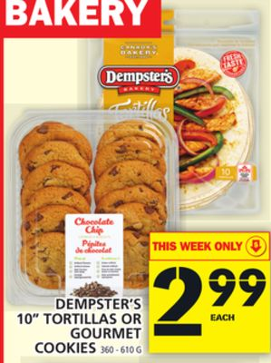 Dempster's 10'' Tortillas Or Gourmet Cookies