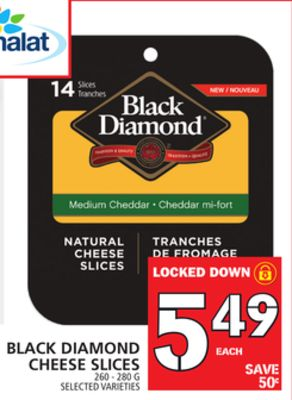 Black Diamond Cheese Slices