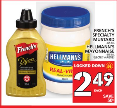 French's Specialty Mustard - Hellmann's Mayonnaise