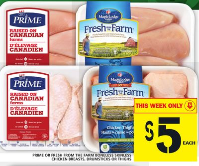Prime Or Fresh From The Farm Boneless Skinless Chicken Breasts - Drumsticks Or Thighs