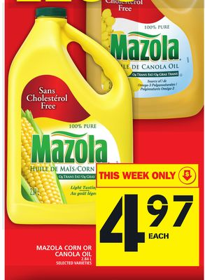 Mazola Corn Or Canola Oil