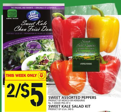 Sweet Assorted Peppers Or Sweet Kale Salad Kit