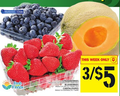 Strawberries Or Blueberries Or Cantaloupes