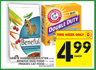 Arm & Hammer Cat Litter Or Beneful Dog Food Or Friskies Cat Food