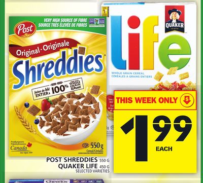 Post Shreddies Or Quaker Life