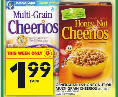 General Mills Honey Nut Or Multi-grain Cheerios