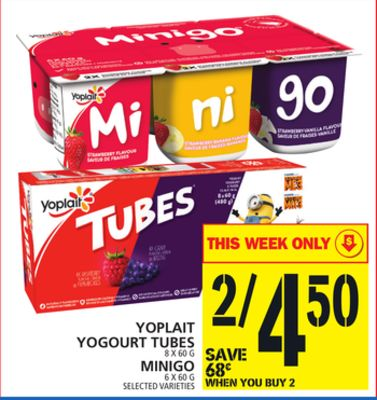 Yoplait Yogourt Tubes Or Minigo