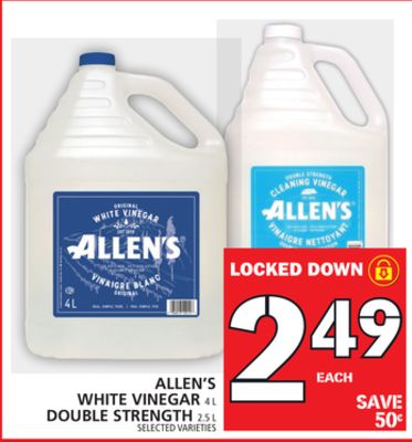 Allen's White Vinegar Or Double Strength