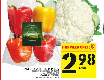 Sweet Assorted Peppers Or Cauliflower