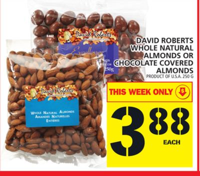 David Roberts Whole Natural Almonds Or Chocolate Covered Almonds