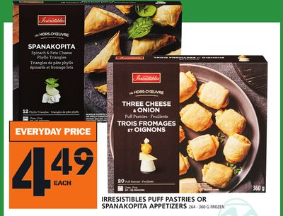 Irresistibles Puff Pastries Or Spanakopita Appetizers