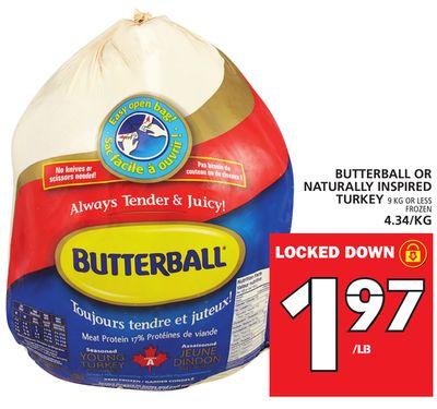 Butterball Or Naturally Inspired Turkey