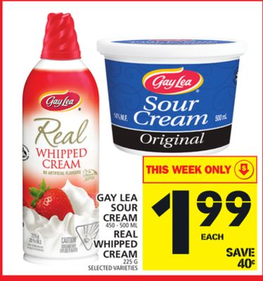 Gay Lea Sour Cream Or Real Whipped Cream