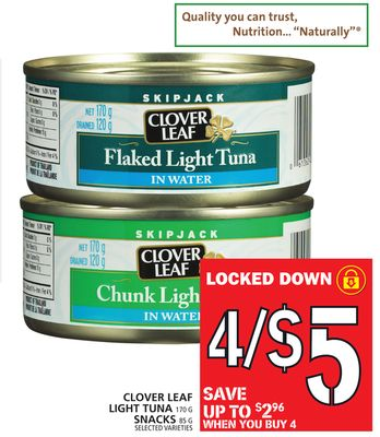 Clover Leaf Light Tuna Or Snacks