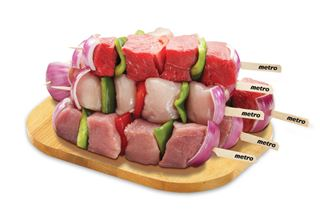 Fresh Store Made Meat Kabobs or Chicken or Turkey Medallions