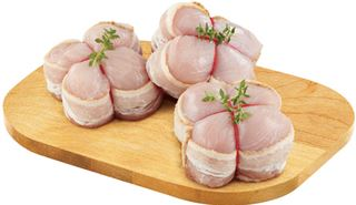 Bacon Wrapped Chicken Or Turkey Medallions Or Boneless Skinless Stuffed Chicken Breast