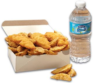 Chicken Tenders - Potato Wedges & Beverage