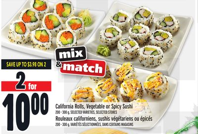 California Rolls - Vegetable or Spicy Sushi