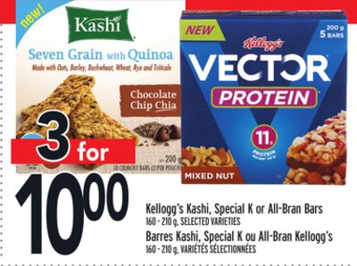 Kellogg's Kashi - Special K or All-bran Bars