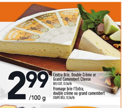L'extra Brie - Double Crème or Grand Camembert Cheese