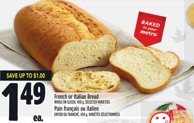 French or Italian Bread