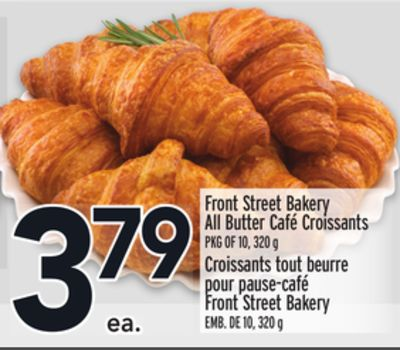 Front Street Bakery All Butter Café Croissants