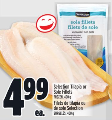Selection Tilapia or Sole Fillets