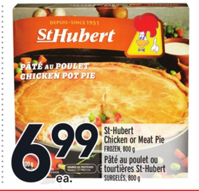 St-hubert Chicken or Meat Pie