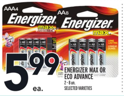 Energizer Max Or Eco Advance
