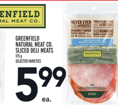 Greenfield Natural Meat Co. Sliced Deli Meats