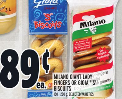 Milano Giant Lady Fingers Or Gioia ''S Biscuits