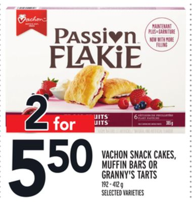 Vachon Snack Cakes - Muffin Bars Or Granny's Tarts