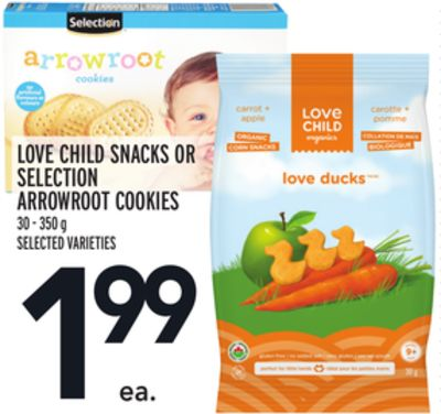 Love Child Snacks Or Selection Arrowroot Cookies