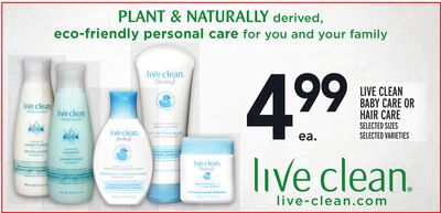 Live Clean Baby Care Or Hair Care