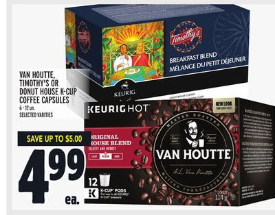 Van Houtte - Timothy's Or Donut House K-cup Coffee Capsules
