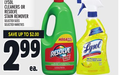 Lysol Cleaners Or Resolve Stain Remover