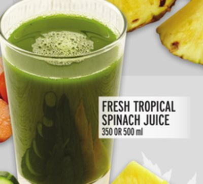 Fresh Tropical Spinach Juice