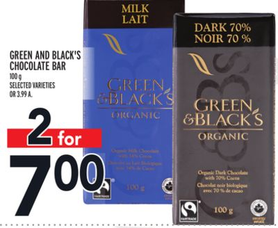 Green And Black's Chocolate Bar