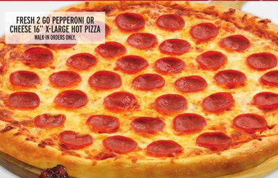 Fresh 2 Go Pepperoni Or Cheese 16'' X-large Hot Pizza