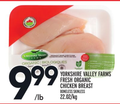 Yorkshire Valley Farms Fresh Organic Chicken Breast