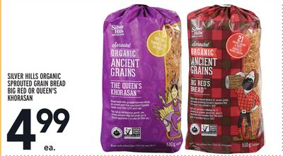 Silver Hills Organic Sprouted Grain Bread Big Red Or Queen's Khorasan