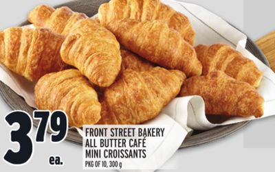Front Street Bakery All Butter Café Mini Croissants