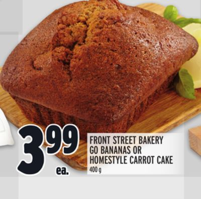 Front Street Bakery Go Bananas Or Homestyle Carrot Cake
