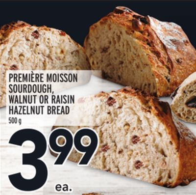 Première Moisson Sourdough - Walnut Or Raisin Hazelnut Bread