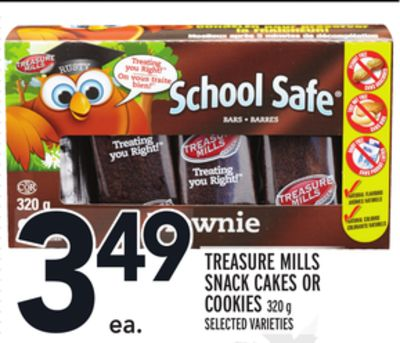 Treasure Mills Snack Cakes Or Cookies