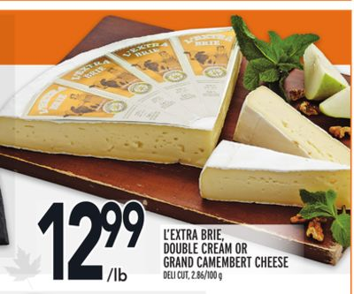 L'extra Brie - Double Cream Or Grand Camembert Cheese