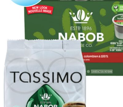 Nabob Tassimo K-cup or T-disc Coffee Capsules
