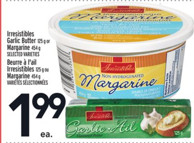 Irresistibles Garlic Butter 125 g or Margarine 454 g