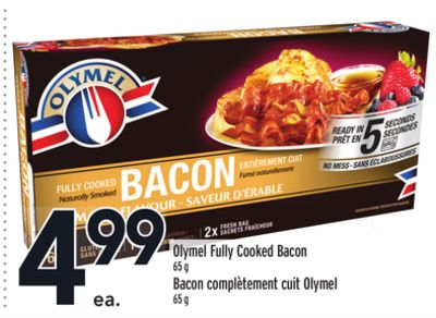 Olymel Fully Cooked Bacon
